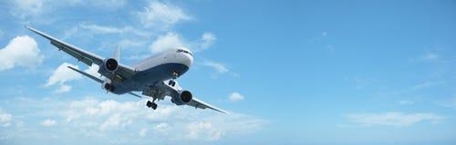 Jet aircraft in flight royalty free stock photos