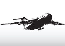 Jet aircraft in flight Royalty Free Stock Photography