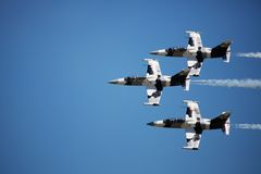 Jet aircraft in formation Stock Photo