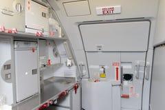 Jet aircraft interior Royalty Free Stock Photo