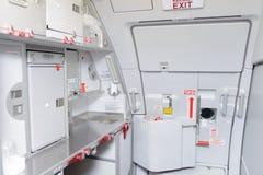 Jet aircraft interior Stock Images