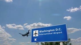 Airplane landing at Washington D.C.