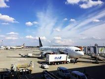Jet aircraft at Narita airport Royalty Free Stock Image