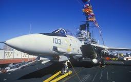 Jet Aircraft no porta-aviões de USS Forrestal, Nova Orleães, Louisiana Imagens de Stock