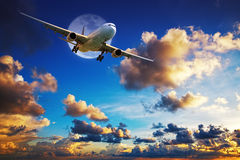 Jet aircraft after take off Royalty Free Stock Photography