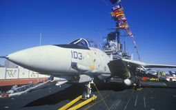 Jet Aircraft on the USS Forrestal Aircraft Carrier, New Orleans, Louisiana Stock Images
