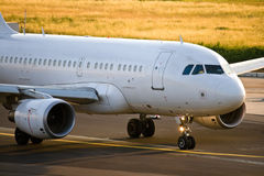 Jet airliner. Preparing to take off Royalty Free Stock Image