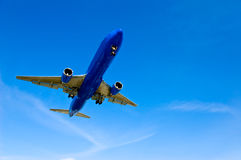 Jet Airliner Airplane Traveling Stock Image