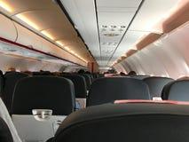 Jet Airliner Cabin View commerciale d'une classe touriste Seat photographie stock libre de droits