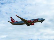 Jet2 Airliner. Image of a Jet2 passenger airliner Royalty Free Stock Photography