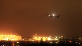Jet Airliner Taking Off at LAX (Night) stock video footage