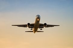 Jet airplane approaching Royalty Free Stock Image