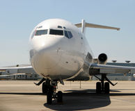 Jet airplane closeup Royalty Free Stock Photo