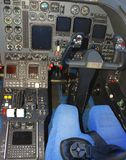 Jet airplane cockpit Stock Images