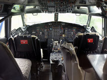 Jet airplane cockpit Royalty Free Stock Images