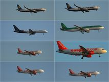 Jet Airplane Collage Foto de Stock