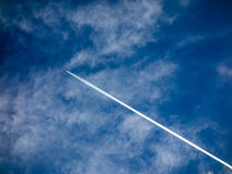 Jet Airplane Contrails Royalty Free Stock Photography