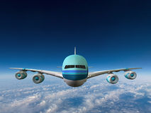 Jet Airplane Flying Illustration enorme Photographie stock