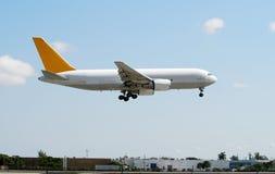 Jet airplane landing Royalty Free Stock Image