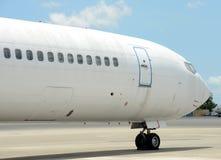 Jet airplane nose Royalty Free Stock Photos