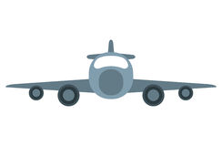 Jet airplane private transport front view. Vector illustration eps 10 Royalty Free Stock Images