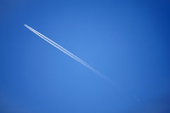 Jet airplane in the sky Stock Image