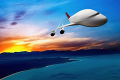 Jet airplane in the sky Royalty Free Stock Images