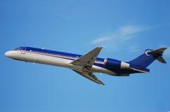 Jet airplane taking off Stock Photo