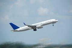 Jet airplane taking off Stock Image