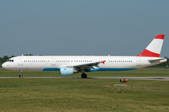 Jet airplane taxiing. Jet airplane is taxiing prior to departure Royalty Free Stock Image