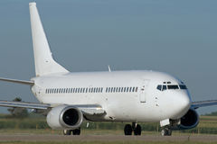 Jet airplane taxiing. Jet airplane is taxiing prior to departure Royalty Free Stock Photos