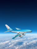 Jet Airplane Travel Sky Clouds Stock Photos