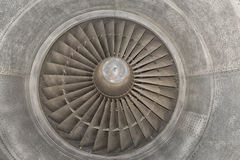 Jet Airplane turbine engine Royalty Free Stock Image
