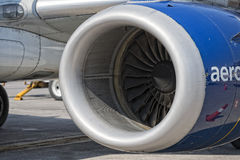 Jet Airplane turbine engine Stock Photos