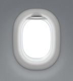 Jet or airplane window royalty free stock image