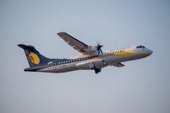 Jet Airways ATR, India-Voorraad Beeld Stock Afbeelding
