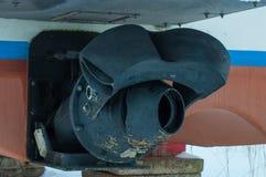 Jet-Antrieb auf einem Motorboot lizenzfreie stockfotos