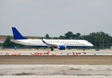 Jet awaiting takeoff Royalty Free Stock Images