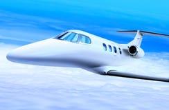 Jet bianco privato Fotografia Stock