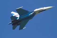 Jet bij de lucht-show Royalty-vrije Stock Foto's