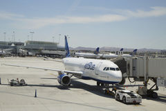 Jet Blue Airbus A320 aircraft ready to take off at Las Vegas airport Stock Images