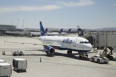 Jet Blue Airbus A320 aircraft ready to take off at Las Vegas airport Stock Photography