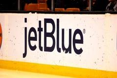 Jet Blue dasher at TD Garden, Boston, MA. Royalty Free Stock Photos