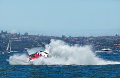 Jet boat action Royalty Free Stock Photo