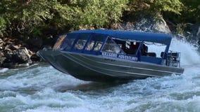 Jet Boat Running Rapids Upriver Hells Canyon Snake River