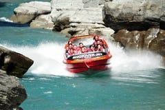 Jet Boat i Queenstown Nya Zeeland royaltyfri foto
