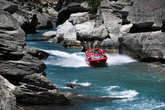Jet Boat in Queenstown New Zealand Royalty Free Stock Photography