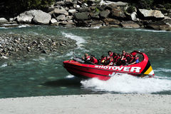 Jet Boat in Queenstown New Zealand Stock Image