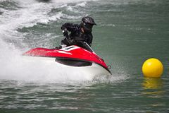 Jet boat racing Stock Photo
