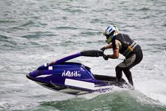 Jet boat racing Stock Image